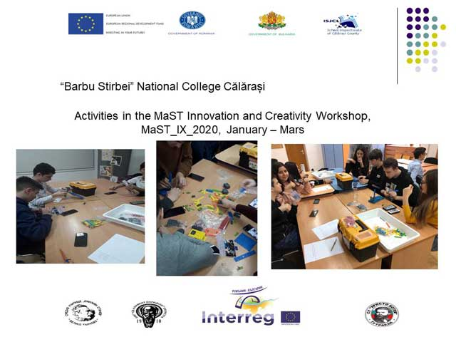 barbu stirbei national college calarasi - activities in the mast innovation and creativity workshop mast_ix_2020 january - mars